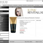 Joico Hair Products web design