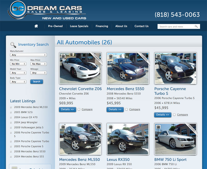Dream Cars Sales & Leasing - LAS Digital Marketing