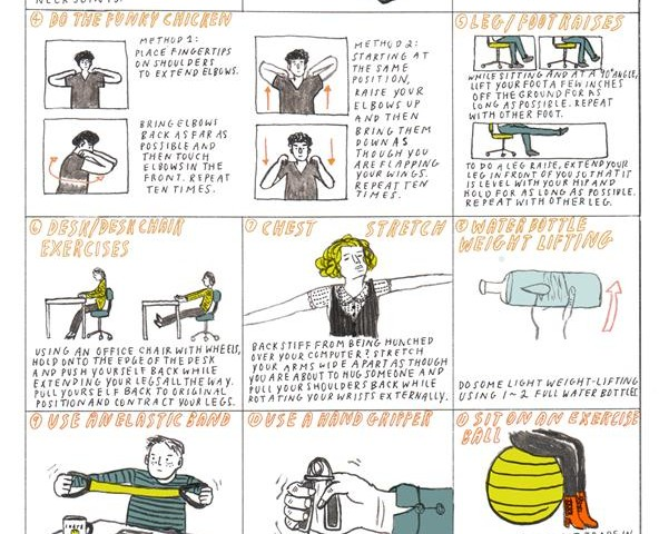 exercises to do at your desk - burn calories and avoid rsi - las