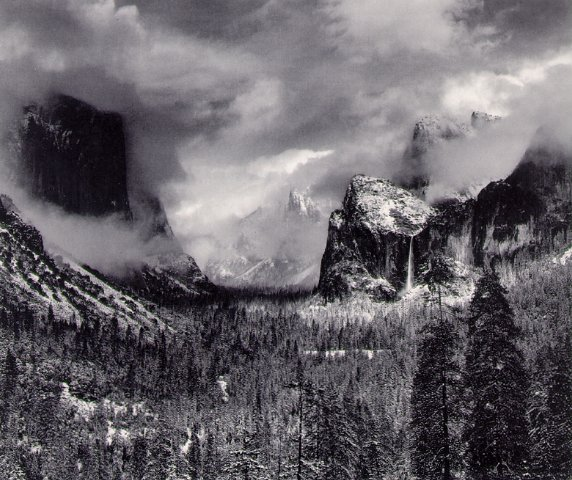 Ansel Adams Clearing Winter Storm at auction