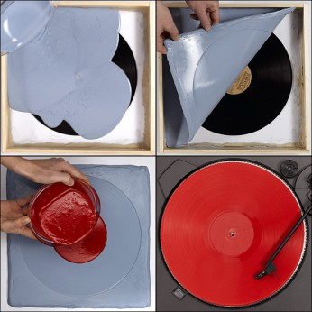 Cast or copy a vinyl record
