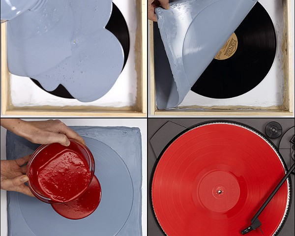 Cast or copy a vinyl record