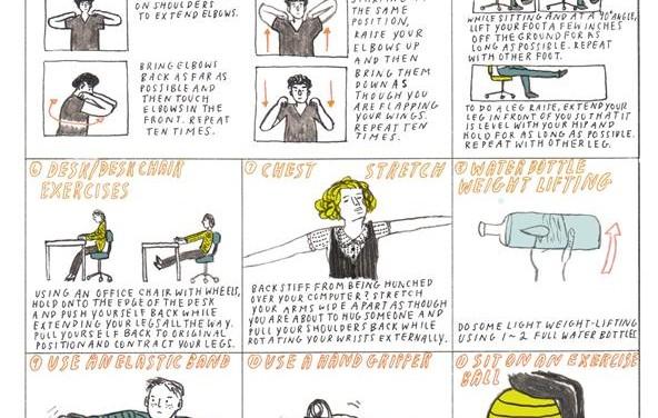 Desk Excercises guide