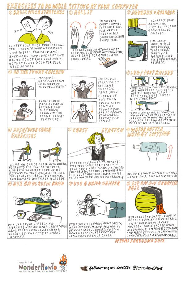 Exercises to do at Your Desk - Burn Calories and Avoid RSI ...